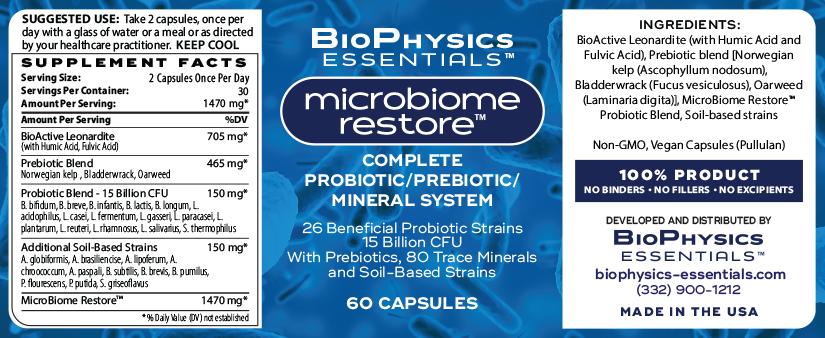 MicroBiome Restore Label